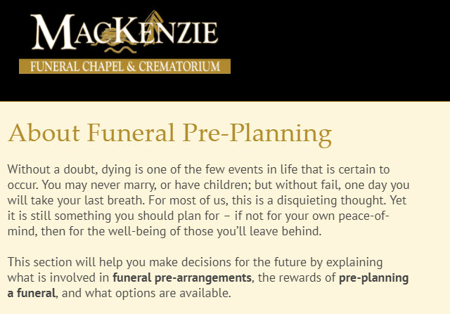 MacKenzie Funeral Chapel & Crematorium in Prince Albert