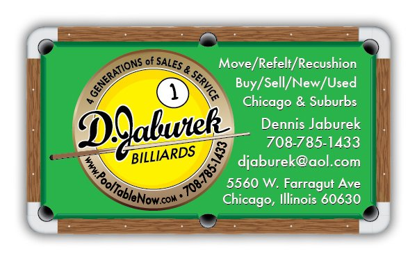 D. Jaburek Billiards 5560 W. Farragut Ave. Chicago, IL Billiard Tables  Manufacturers   MapQuest