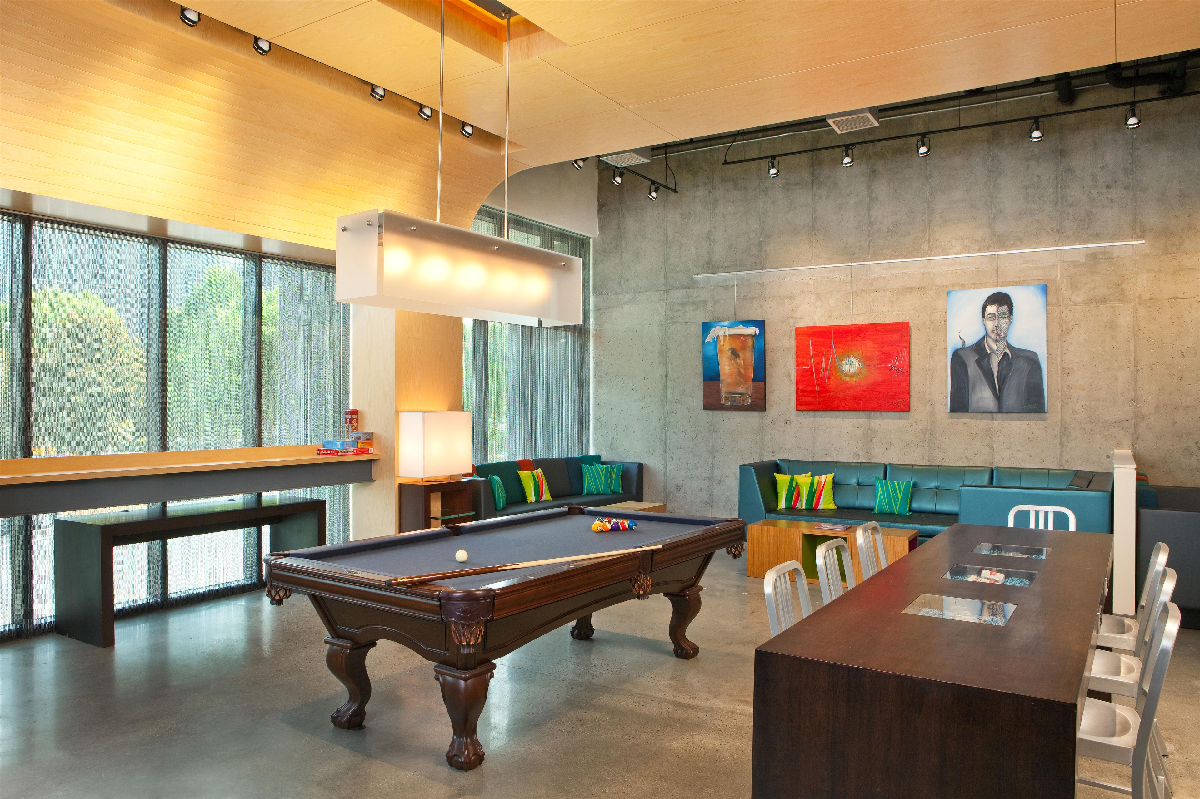 Pool Table in re:mix by Aloft Lounge