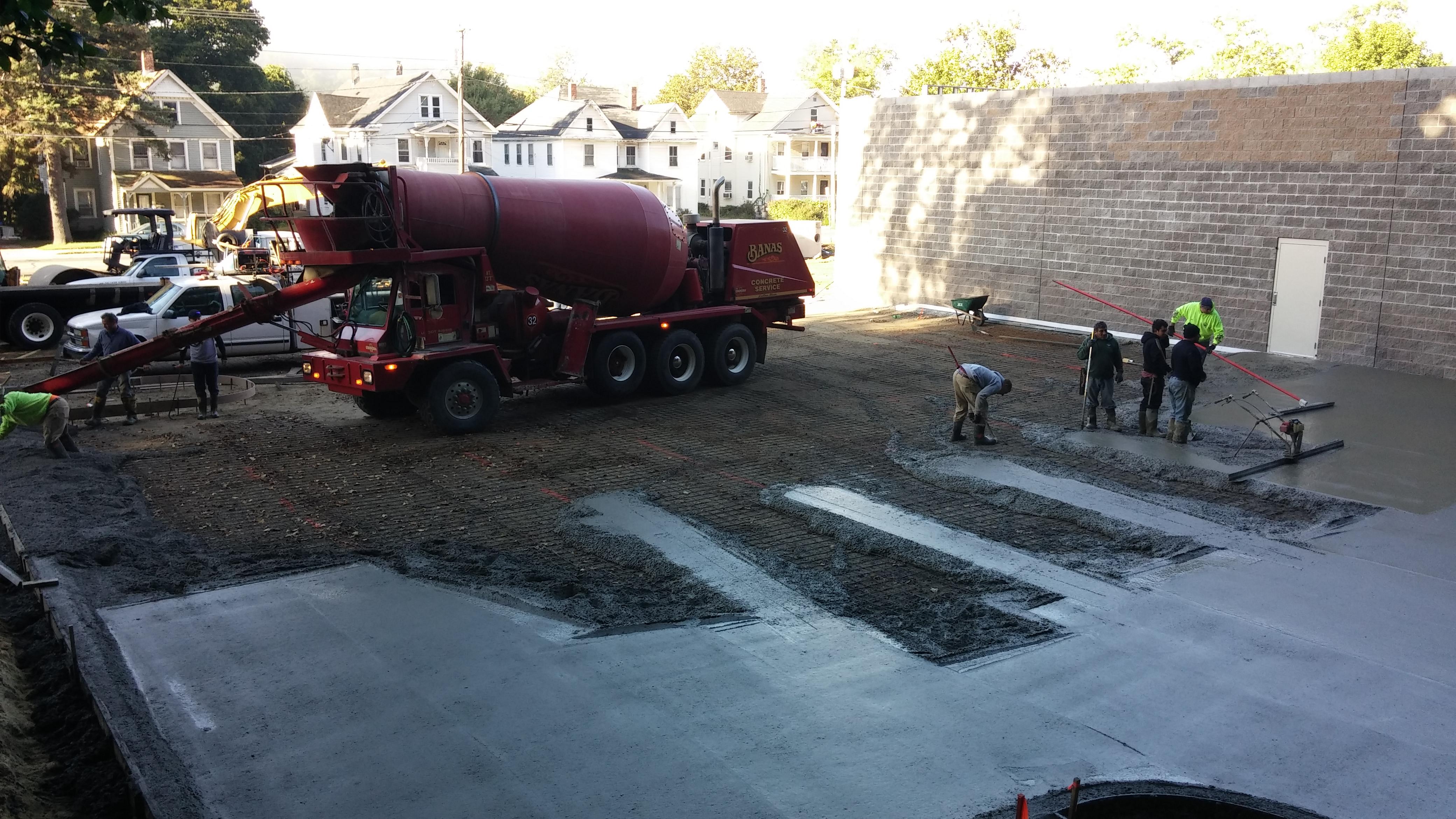 Ready mix concrete commercial parking lot