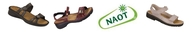 NAOT - Why Naot? Uniquely engineered insoles are a blend of natural latex and cork that are designed to replicate the shape of the foot, just like the footprint we leave when walking the sand. And awesomely stylish, too!
