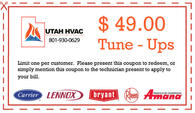$49.00 tune-up on air conditioner or furnace.