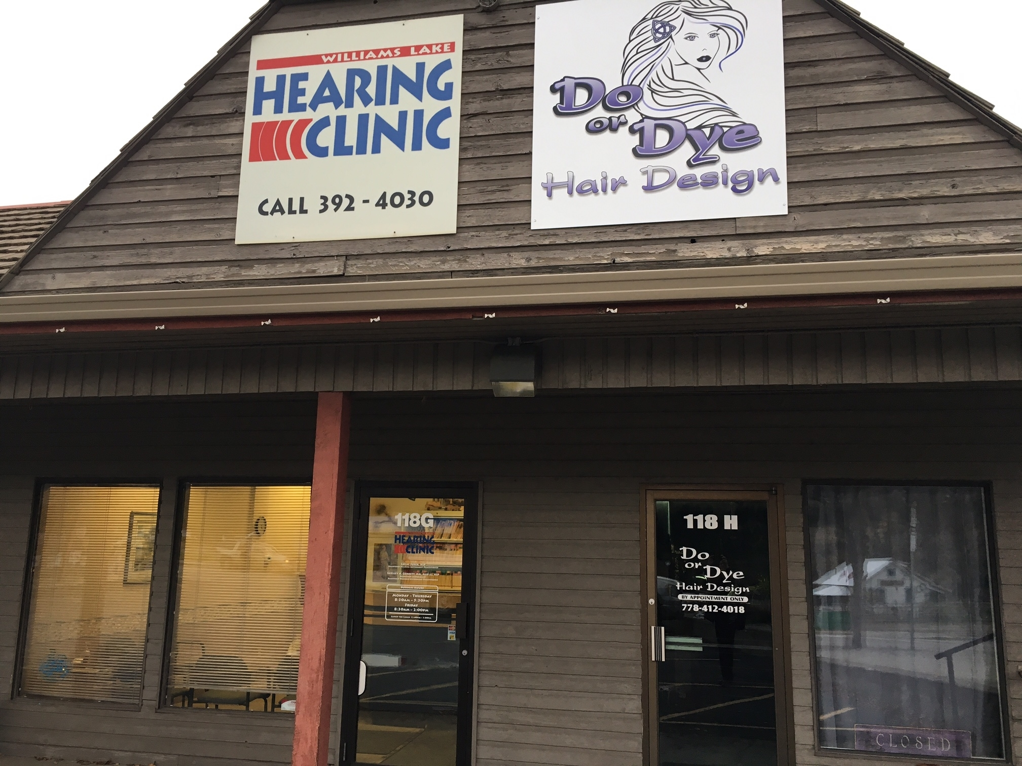 Williams Lake Hearing Clinic in Williams Lake: front entrance