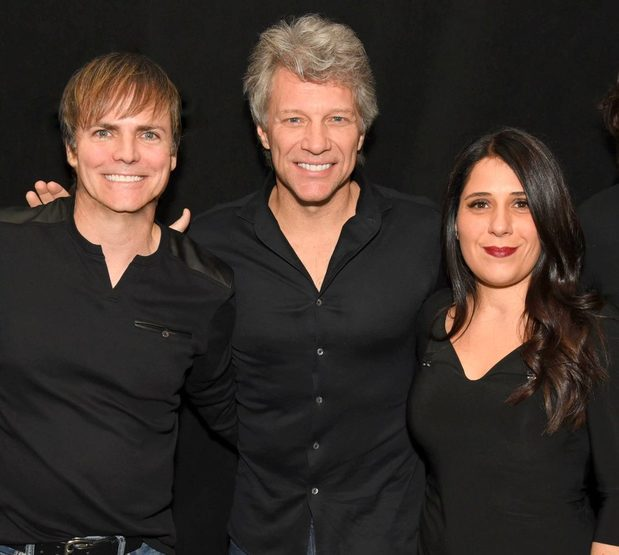 Chris Green, Jon Bon Jovi and Patty Da Silva having a great night out!