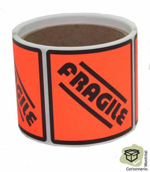 Cartonnerie Montréal Inc à Montréal: Fragile stickers