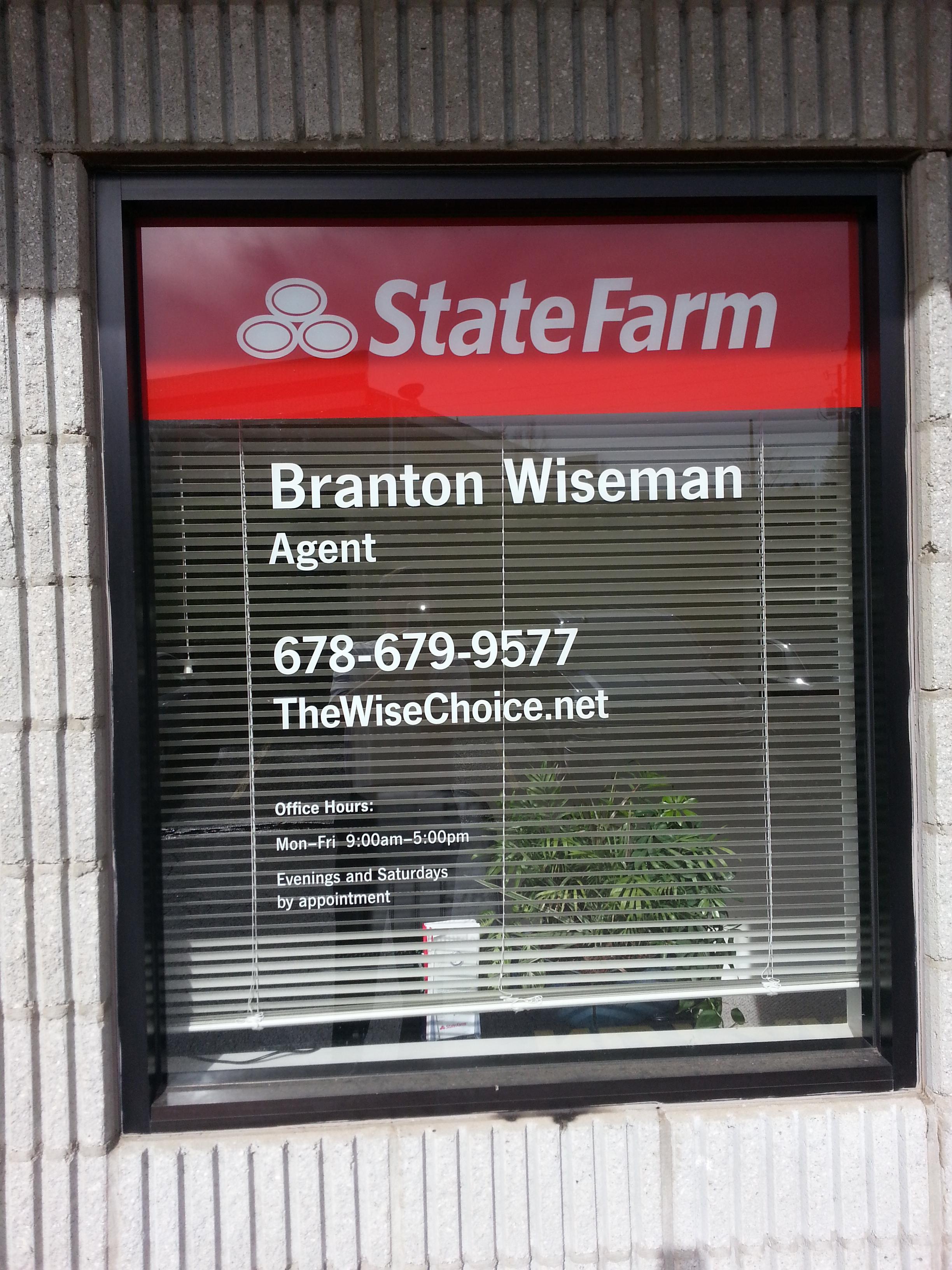 Branton Wiseman - State Farm Insurance Agent image 1