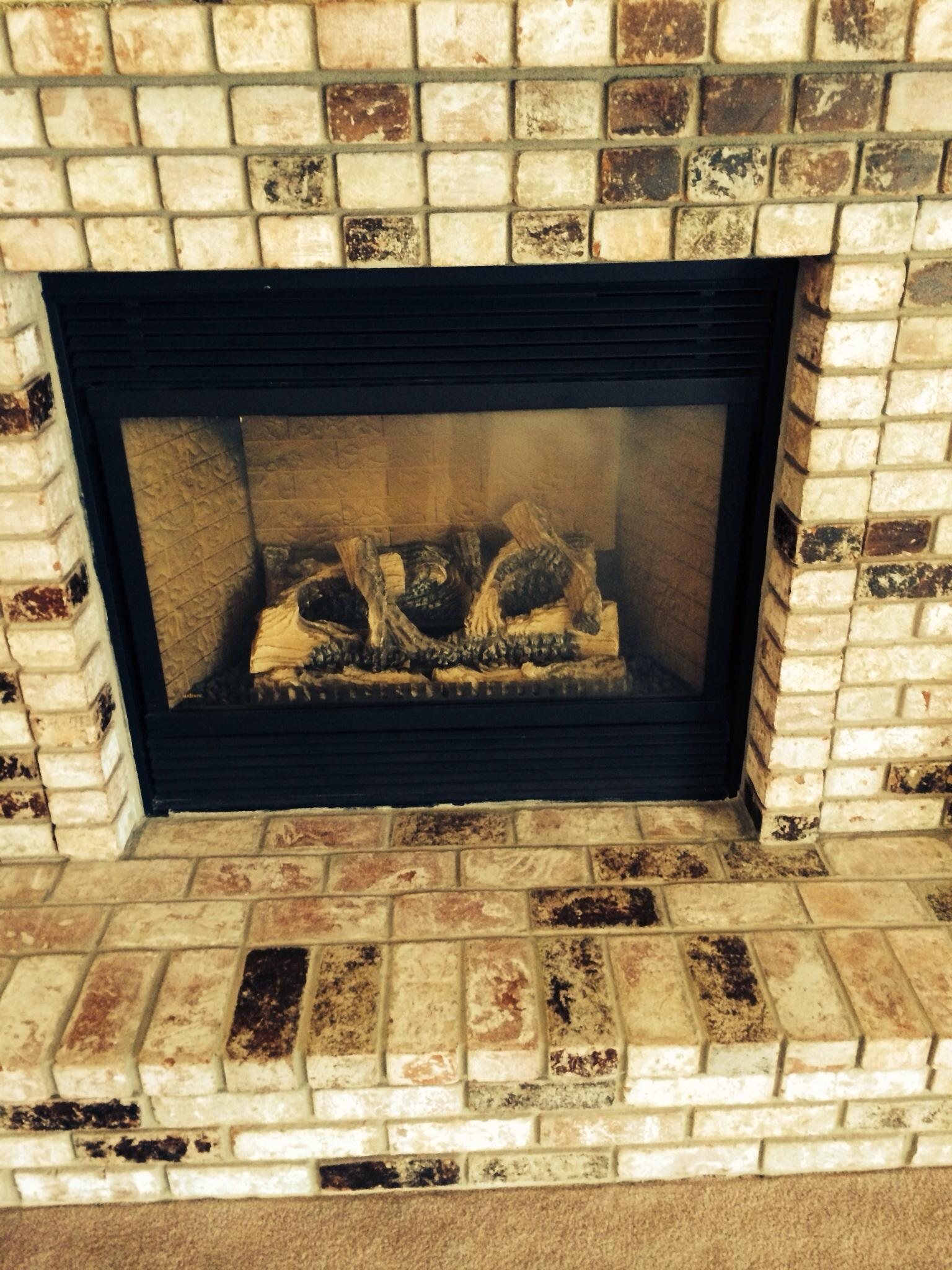 Gas fireplace gets inspected as part of a home inspection