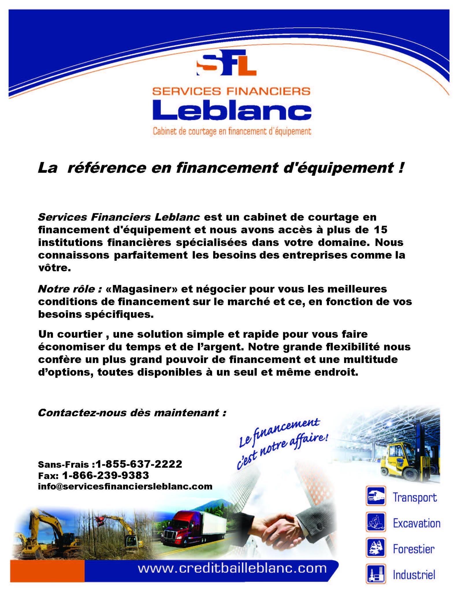 Services financiers leblanc val des monts qc ourbis for Domon services financiers