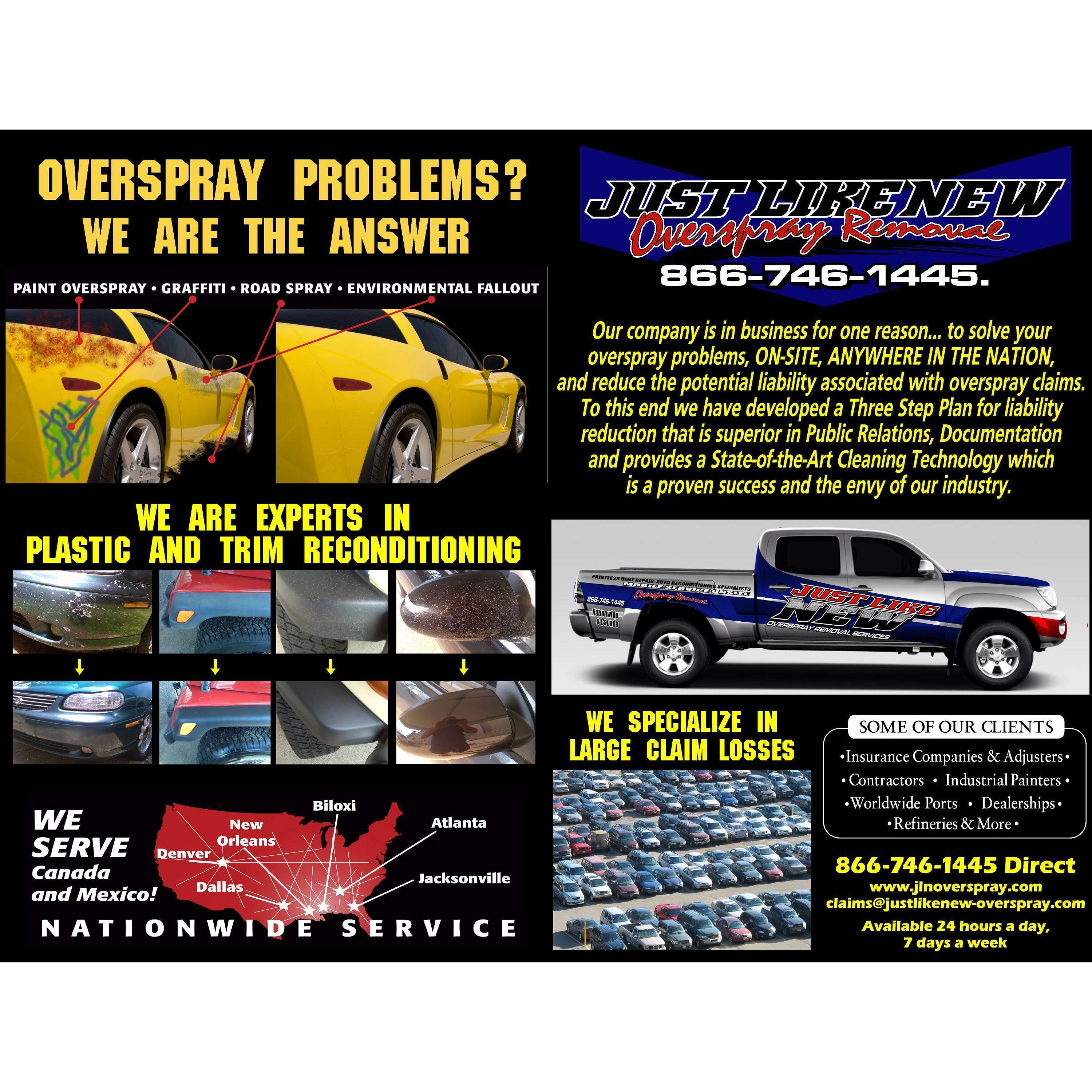 Just Like New  Overspray Removal Inc