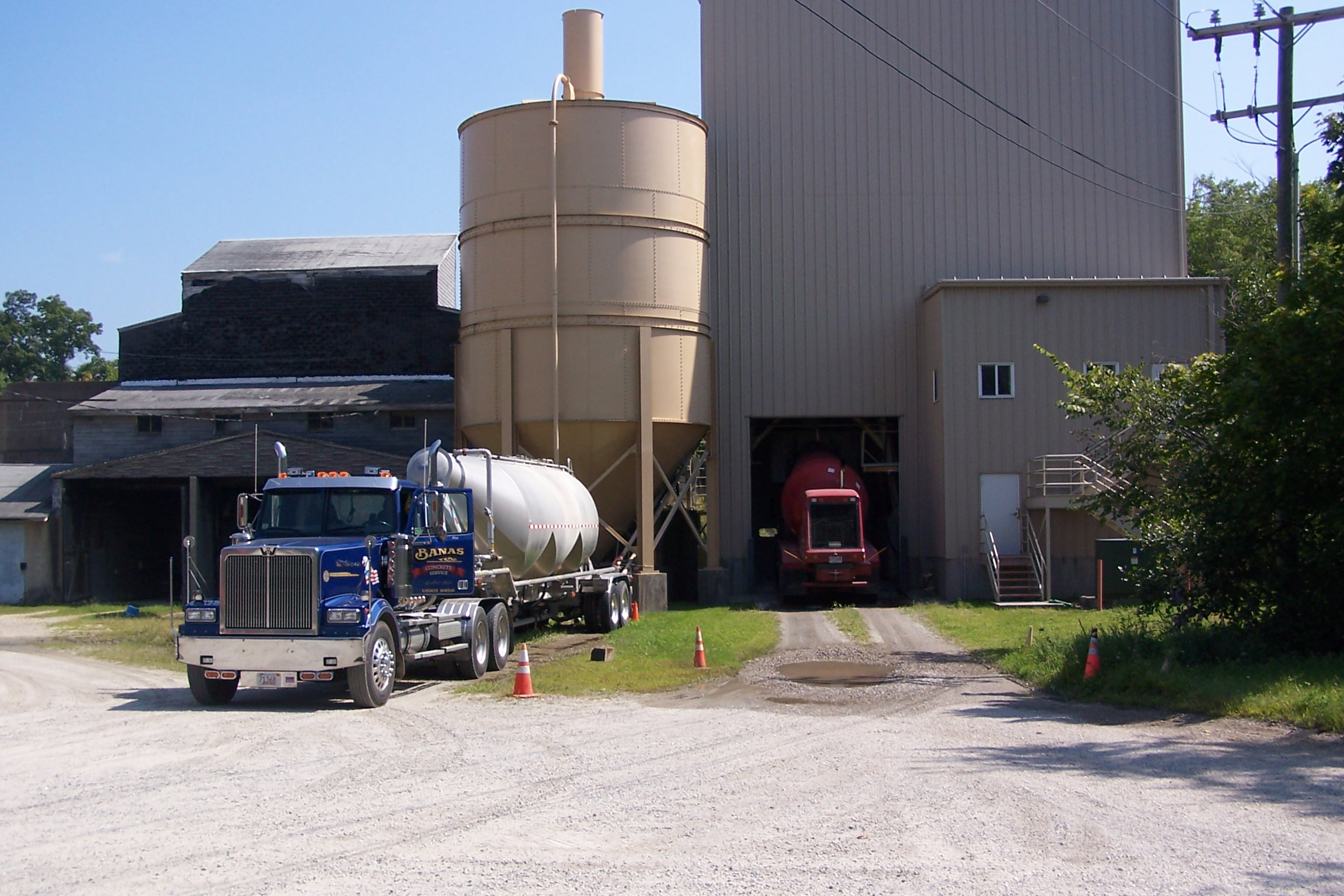 Banas Concrete Plant at 246 Fuller Street in Ludlow, MA
