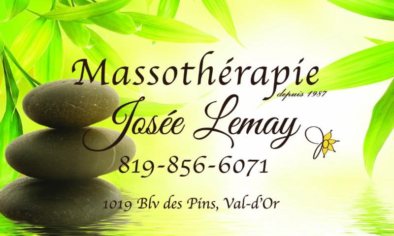 Massothérapie Josée Lemay à Val-d'Or
