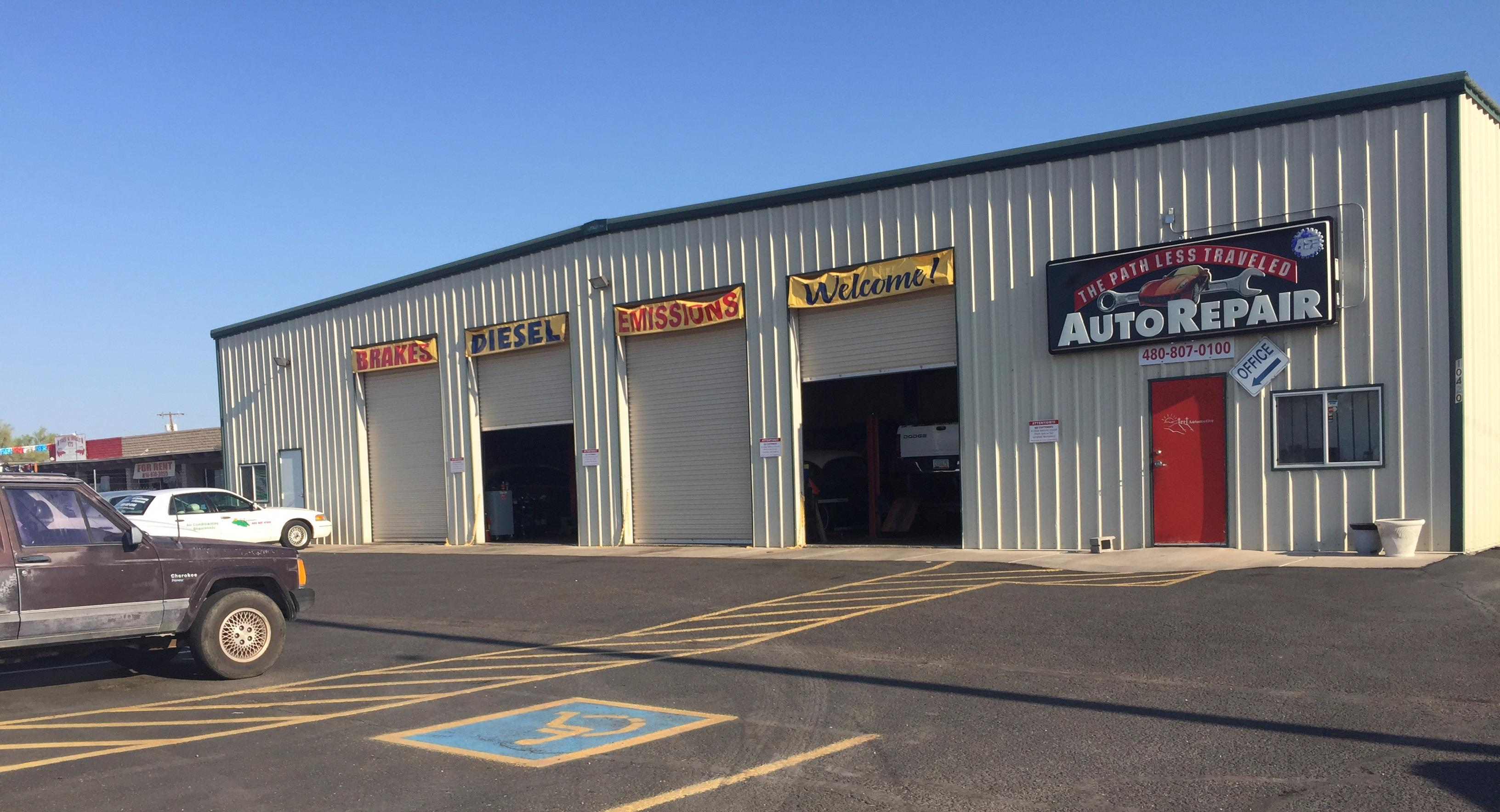 The Path Less Traveled Automotive in Apache Junction, AZ. Count on our automotive repair technicians to keep your car, truck, suv, or van on the roads longer and safer.