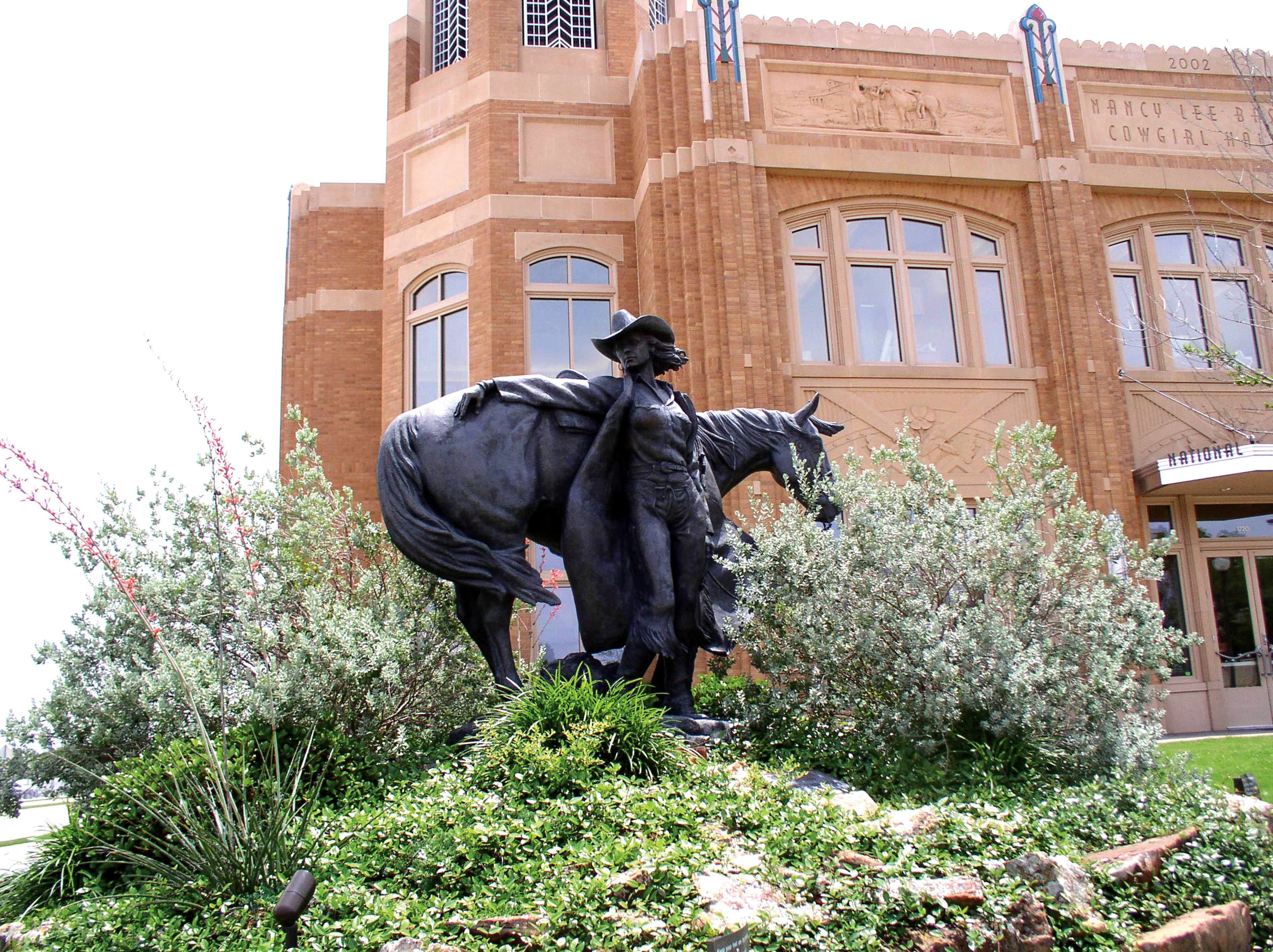 Sculpture outside of Cowgirl Museum