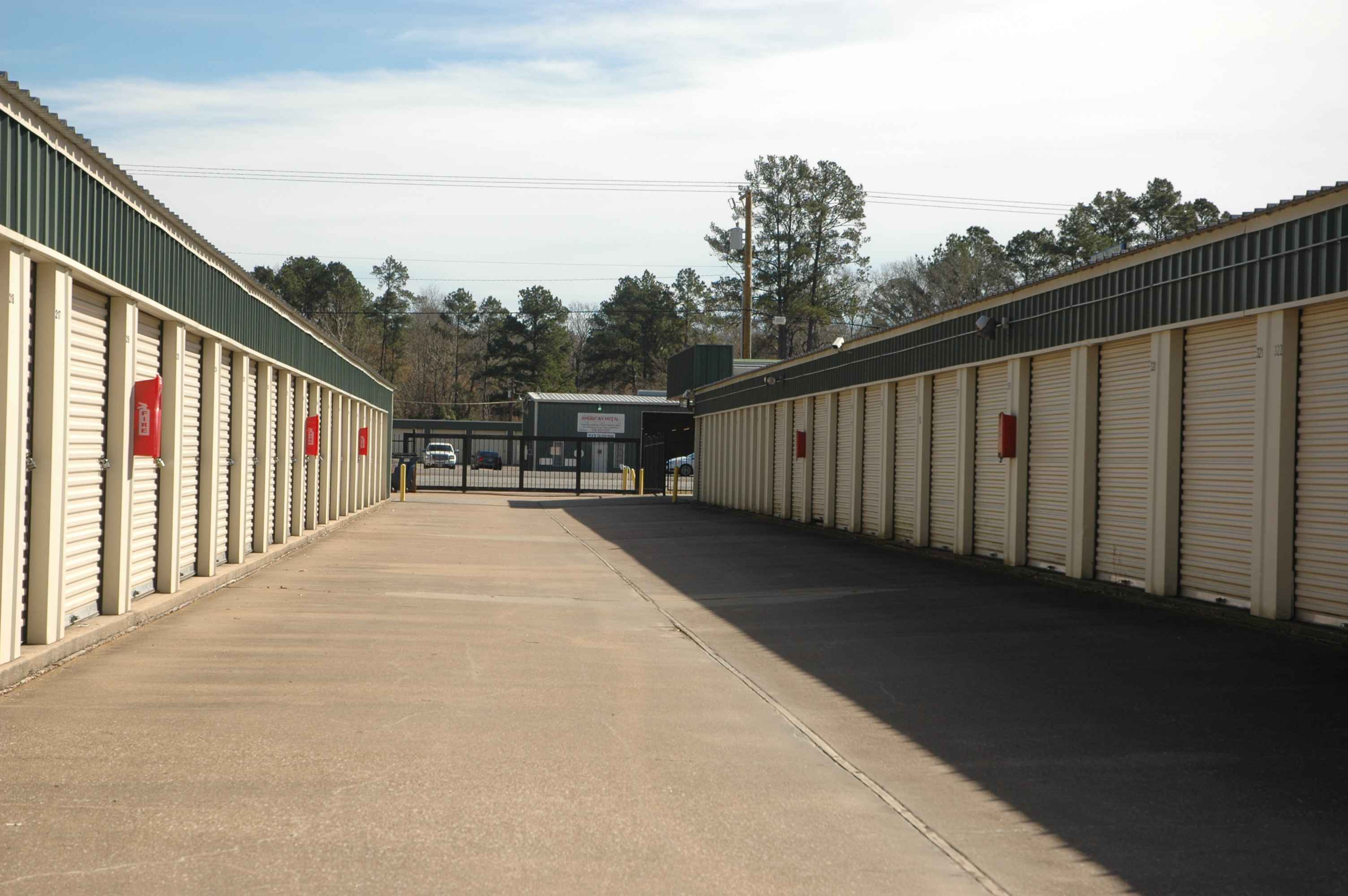 All ground-level easy access storage units.