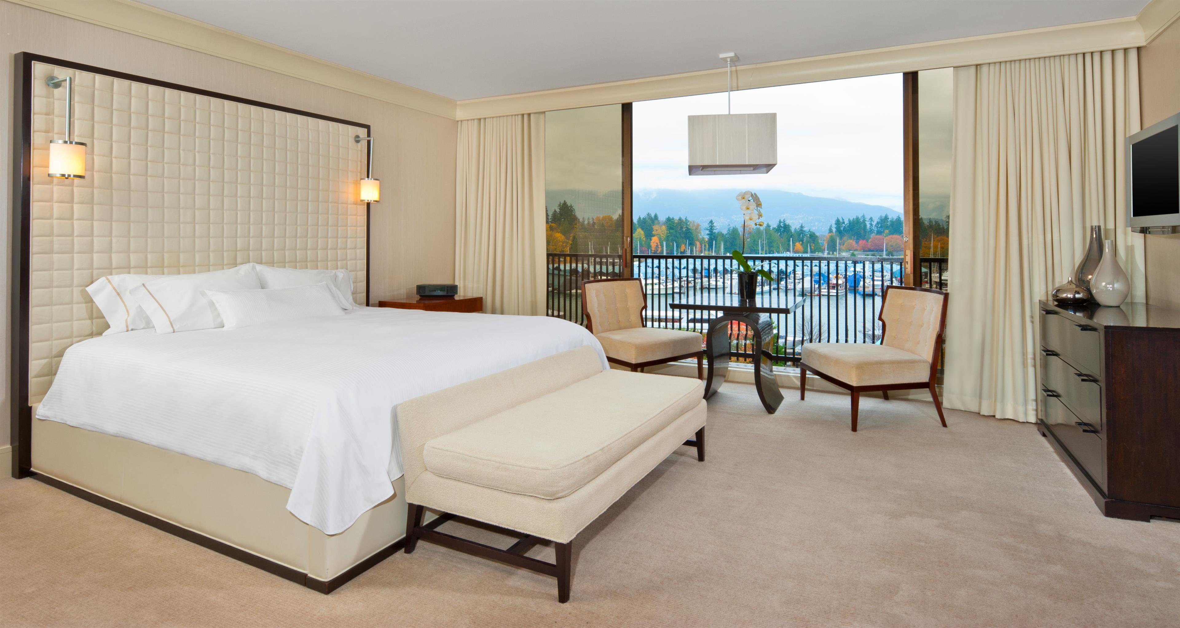 The Westin Bayshore, Vancouver in Vancouver: International Suite Master Bedroom