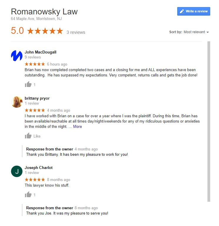 Romanowsky Law image 1