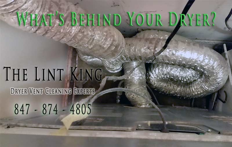 What's Behind Your Dryer? This new homeowner had no clue! That's why it's important to contact the Lint King to get the job done right!
