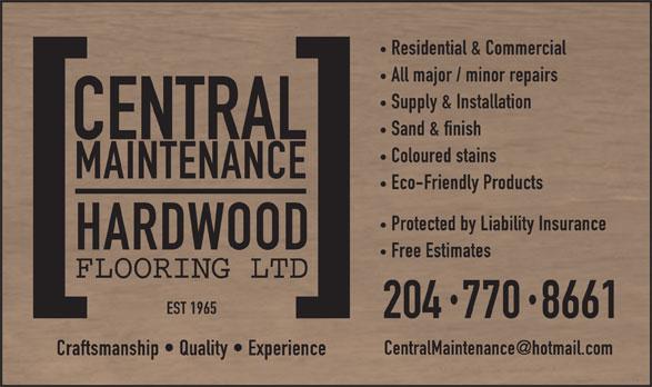 Central Maintenance Hardwood Flooring Ltd