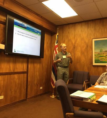 Economics Engineering Inc's Jarrell Wenger PE, LEED AP leading ENERGY STARing Hawaii Kickoff Meeting November 2014