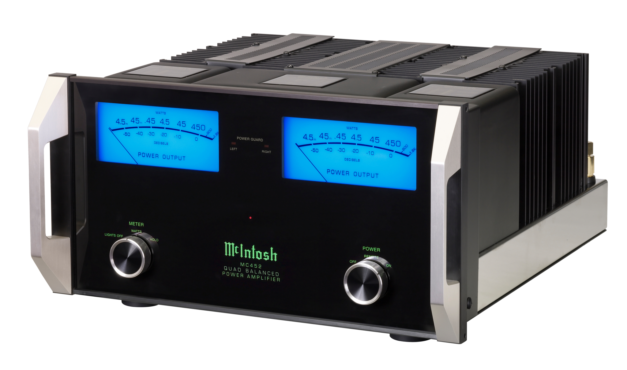 Executive Stereo in North York: The most popular McIntosh Solid State Stereo Amplifier featuring 450 watts per channel, with balanced and unbalanced inputs.  You will never be short of power with this beautiful    powerhouse.