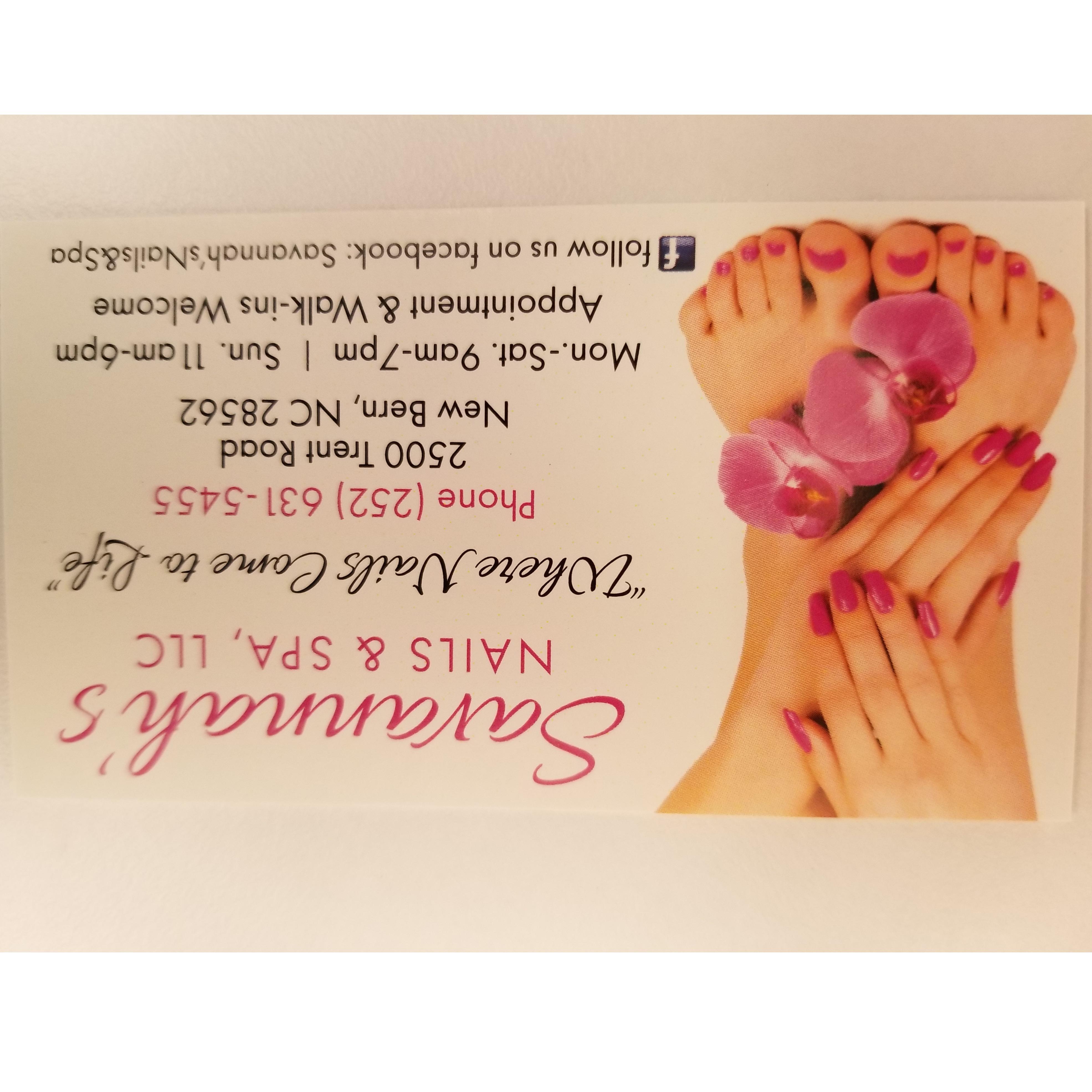 """Savannah""""s  Nails & Spa"""