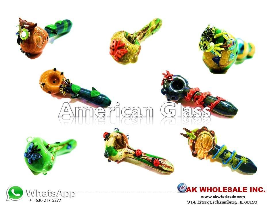 AMERICAN GLASS PIPE | AK WHOLESALE INC WWW.AKWHOLESALE.COM | 1-847-895-7080