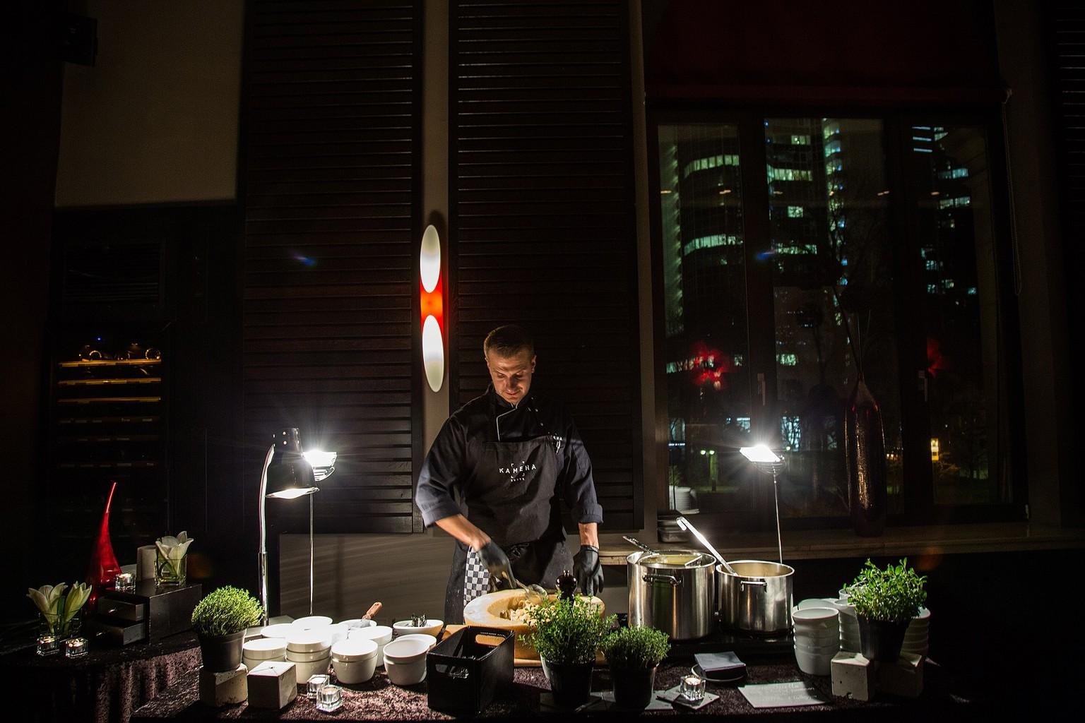 Live cooking im Kameha Suite