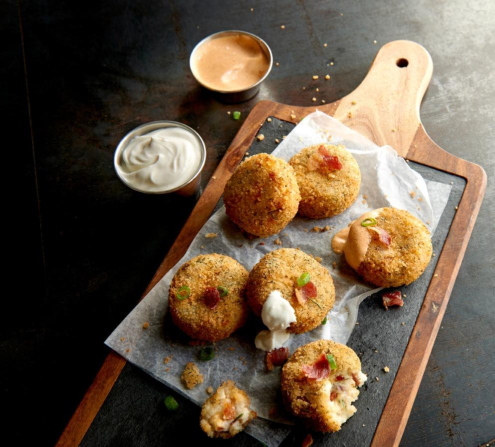 Try our NEW Bacon Potato Cakes before it's too late!