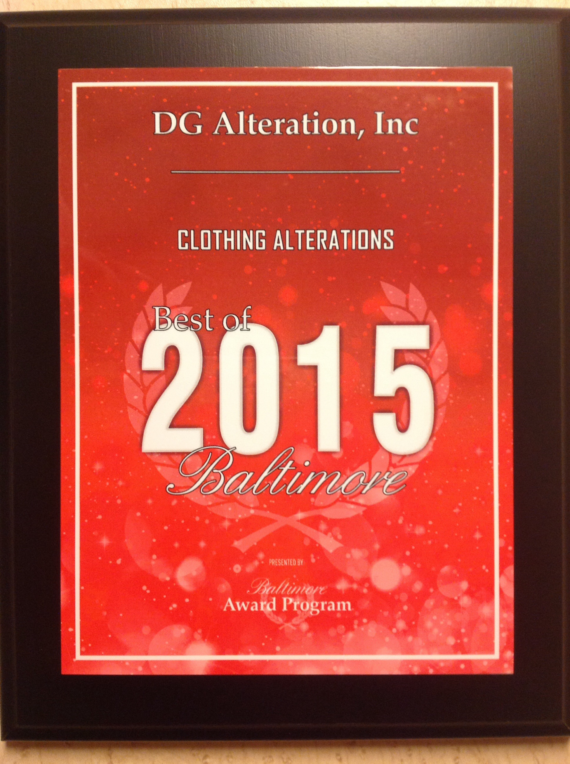DG Alteration, Inc image 0