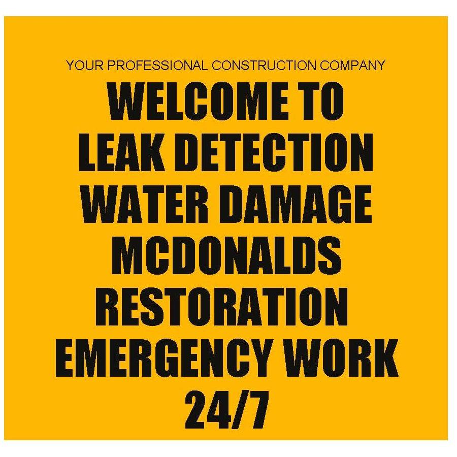 Leak Detection Water Damage Mcdonalds Restoration