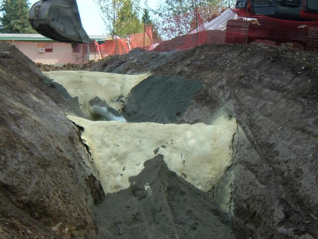 Tasman Industries Ltd in Aldergrove: Polyurethane foam foam ditch plugs for gas pipeline