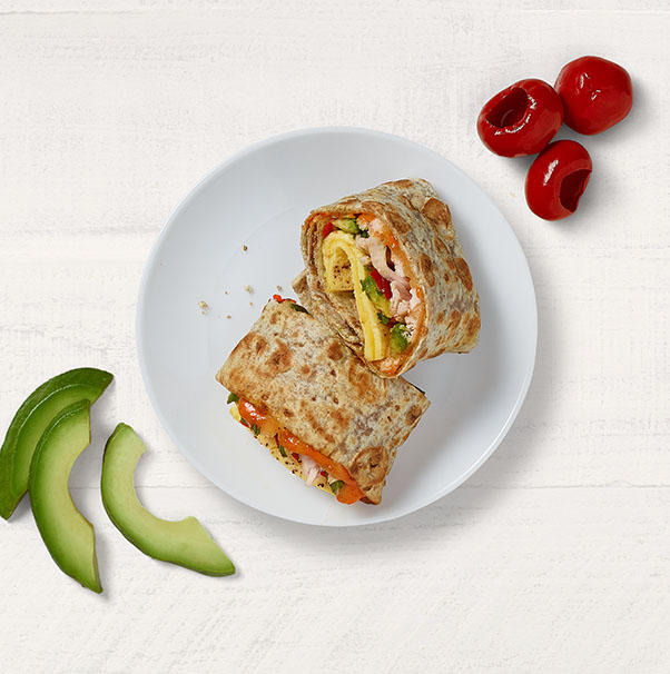 Chipotle Chicken, Scrambled Egg & Avocado Wrap