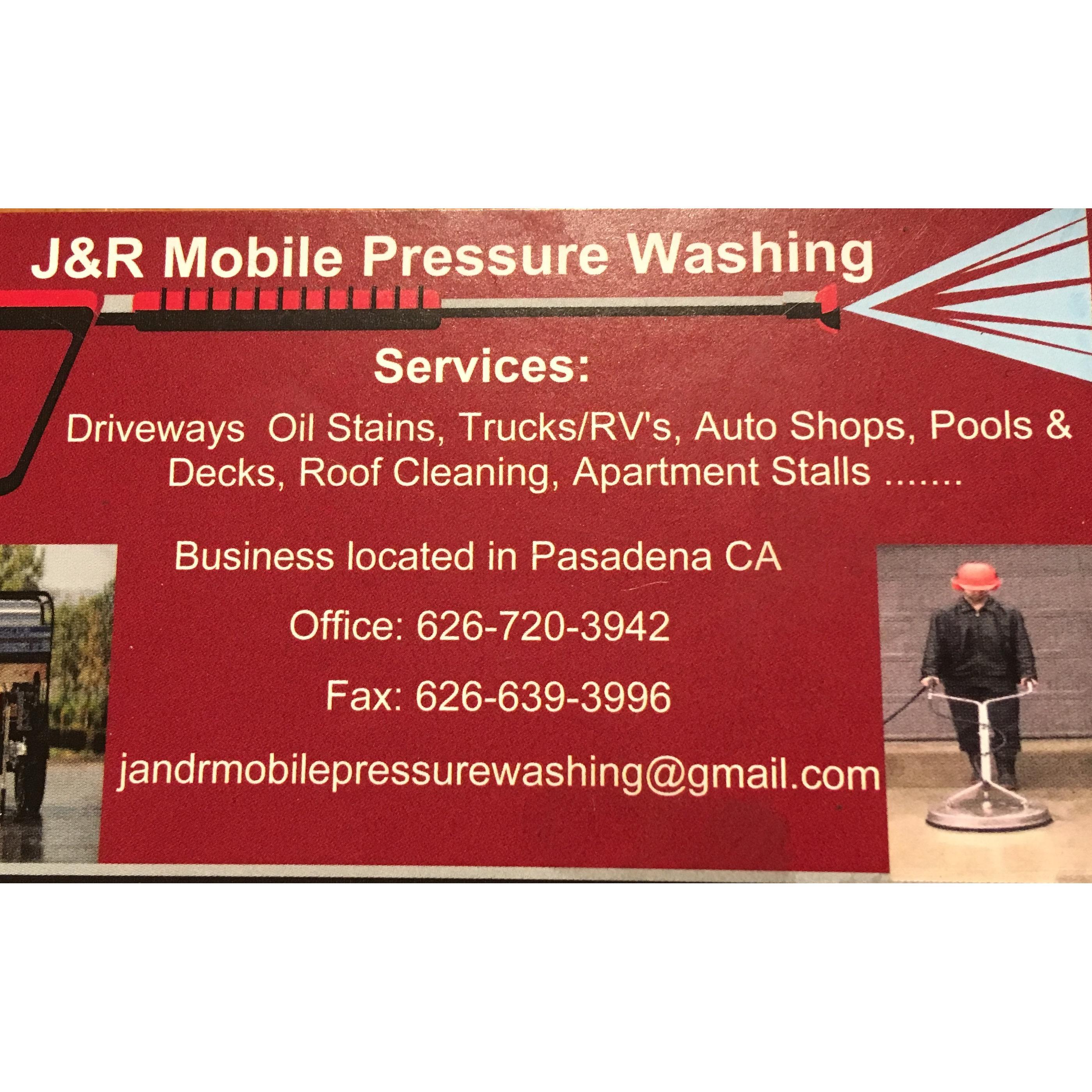J & R Mobile Pressure Washing
