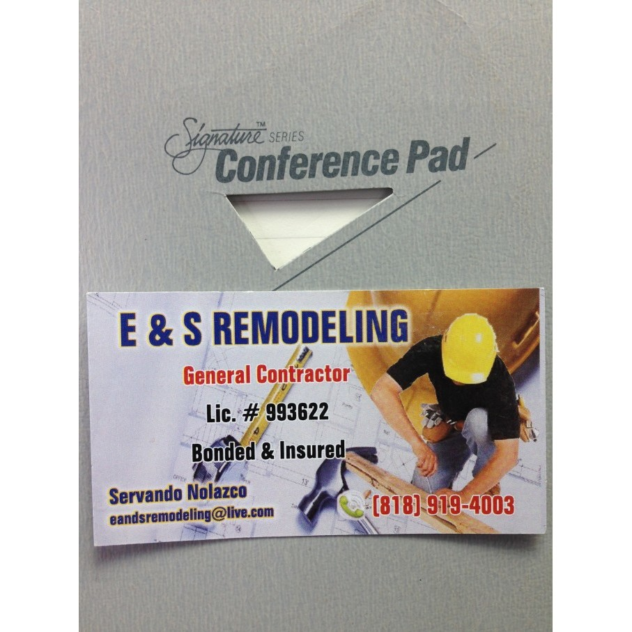 E And S Remodeling logo
