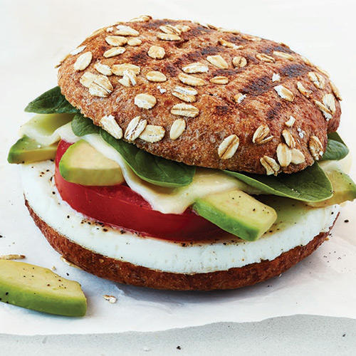 Start your morning with our Avocado, Egg White & Spinach Breakfast Power Sandwich.