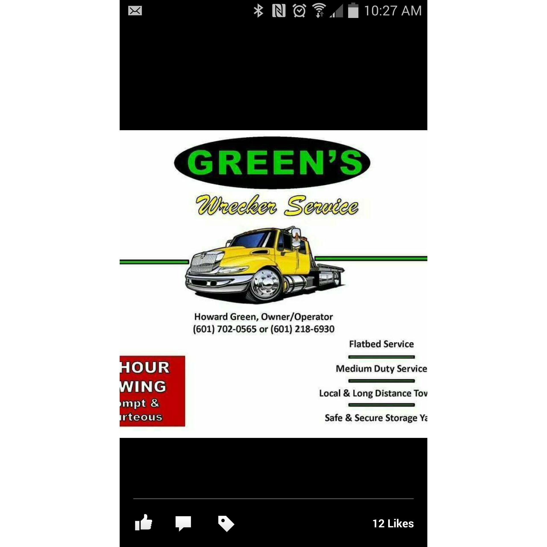 Green's Wrecker Service LLC