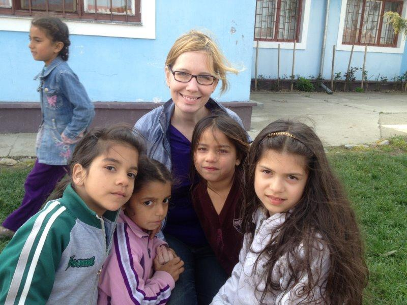 Dr. Greenaway on a dental mission trip to Romania.