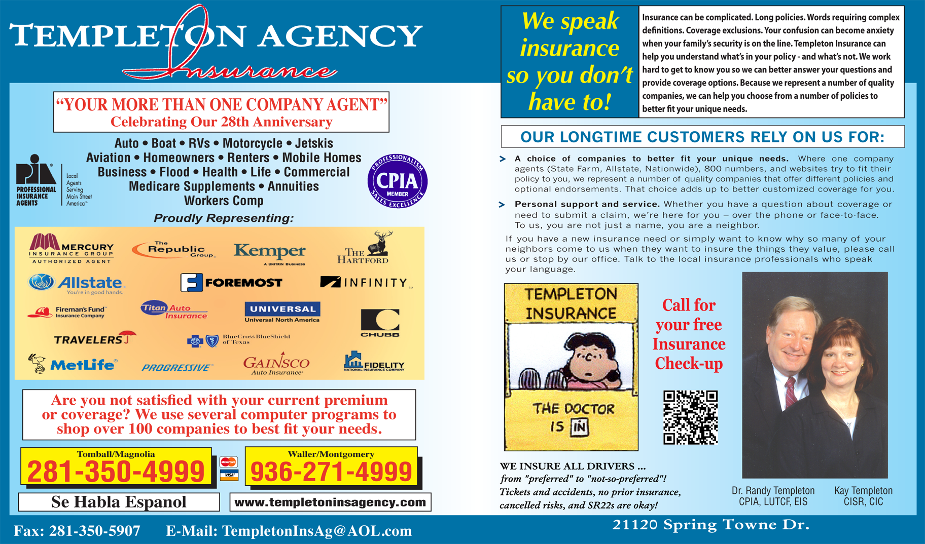 Templeton Insurance Agency - ad image
