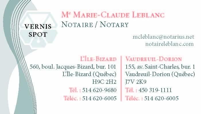 Leblanc Marie Claude à L'Île-Bizard