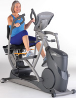 Octane Fitness Seated Recumbent Elliptical, amazingly smooth and comfortable.