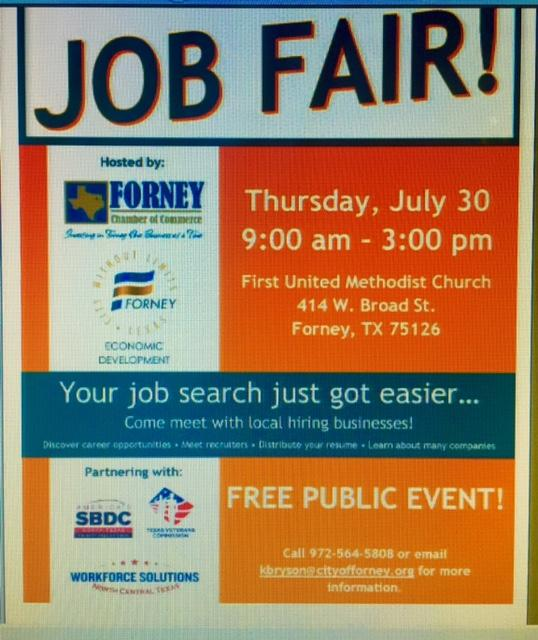 FREE Public Event Come visit local businesses including learning about Forney Real Estate Market