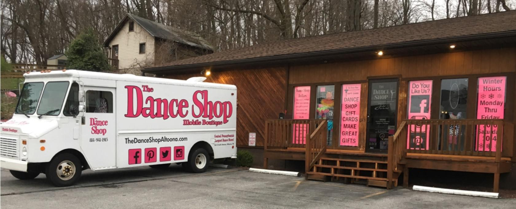 The Dance Shop is located at 3614 6th Ave. Altoona, PA, 16602.