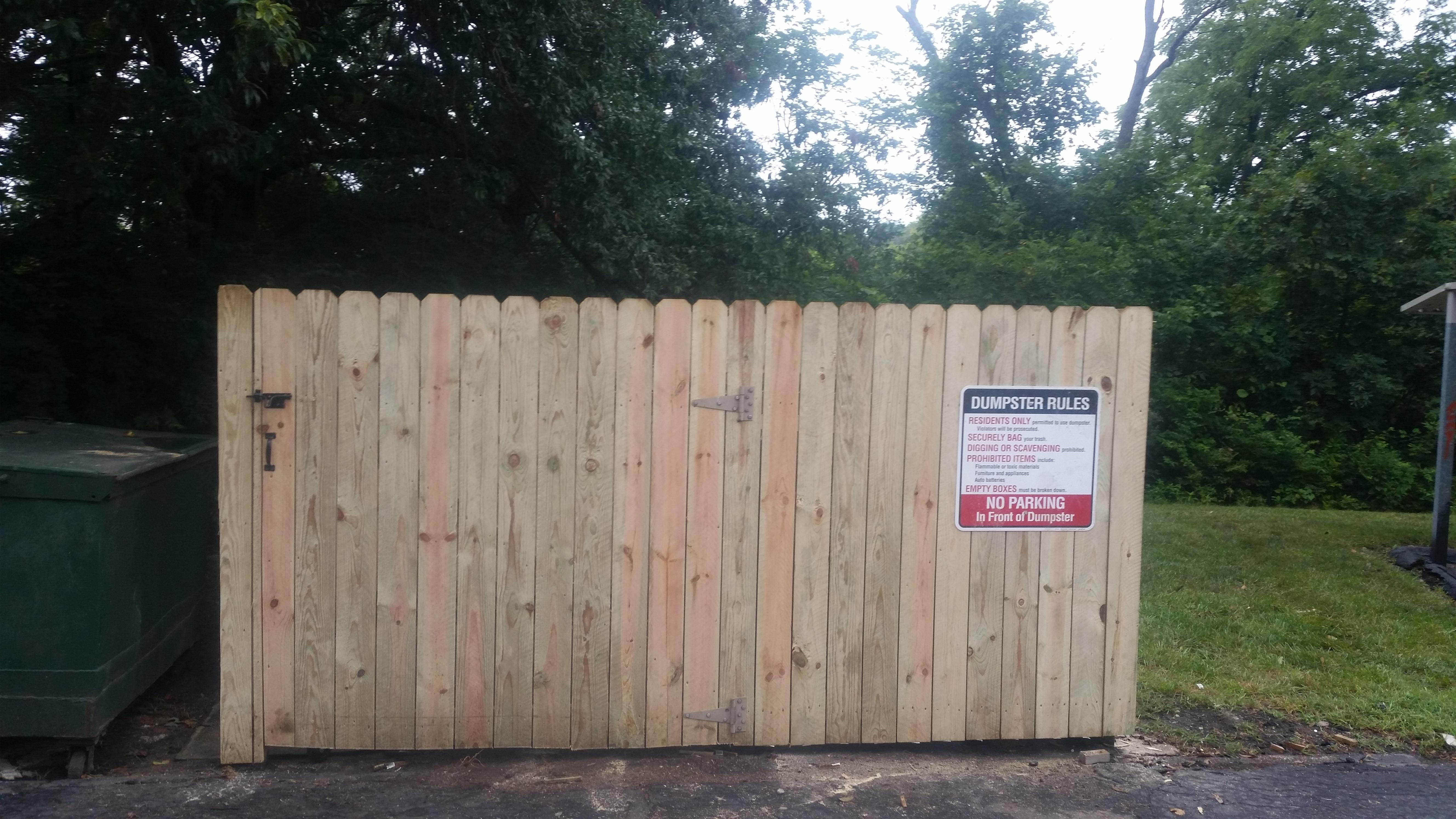 Our team installs Wooden fence and  all other types of  fencing