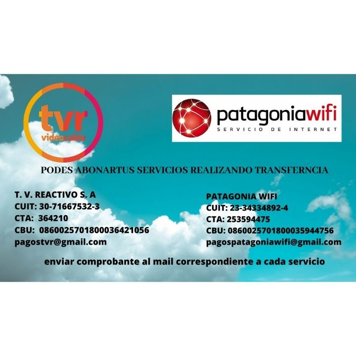Tvr- Patagonia Wifi