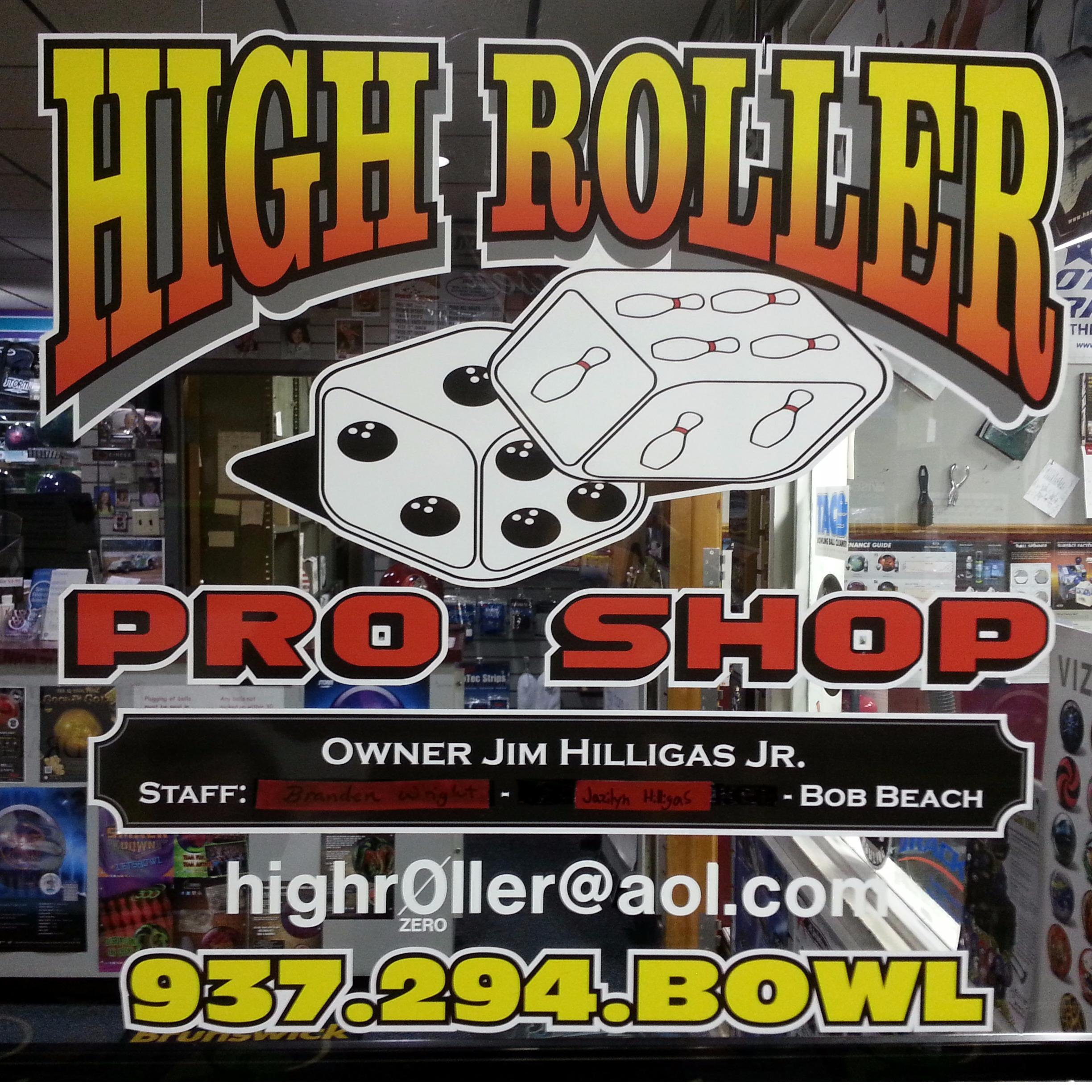 High Roller Pro Shop - Kettering, OH - Bowling