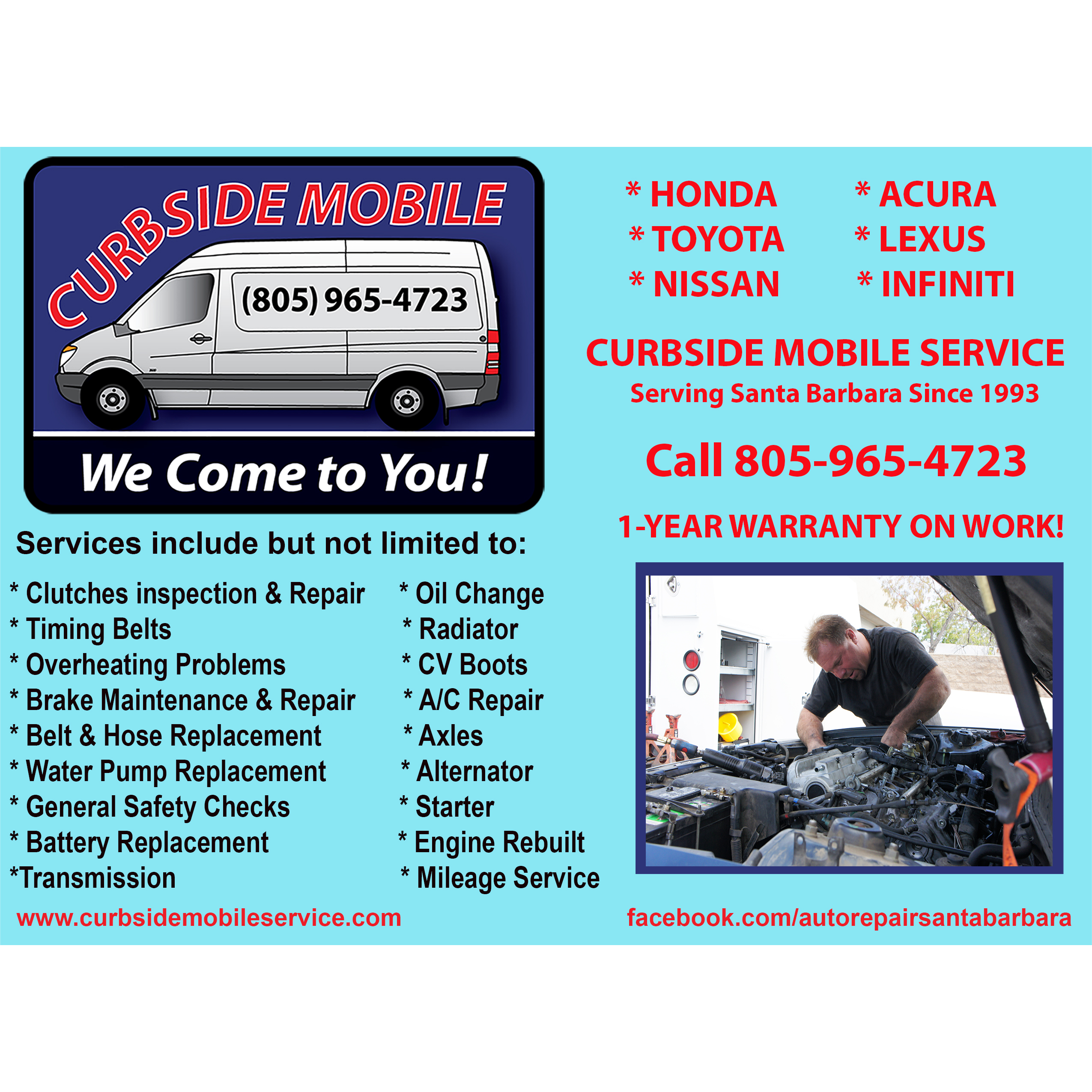 Curbside Auto Repair And Service-We Come To You! Coupons
