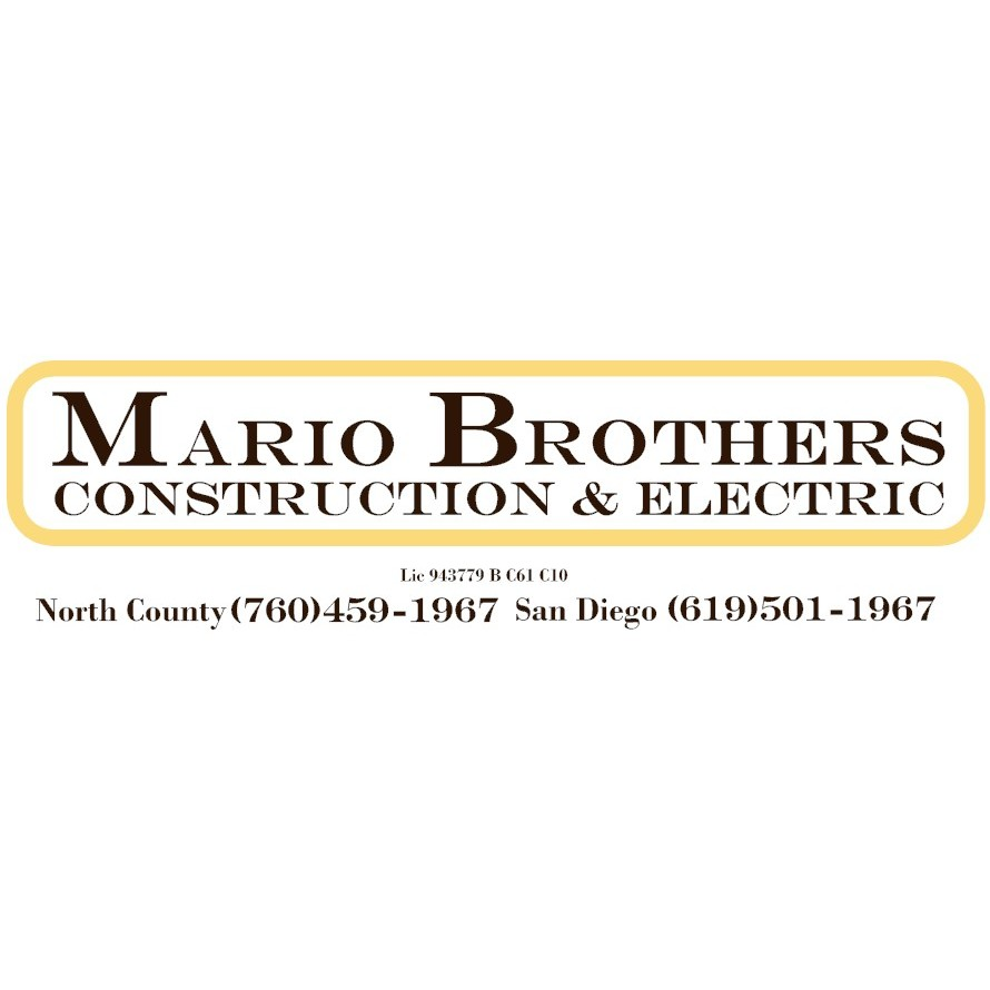 Mario Brothers Construction Amp Electric Oceanside Ca