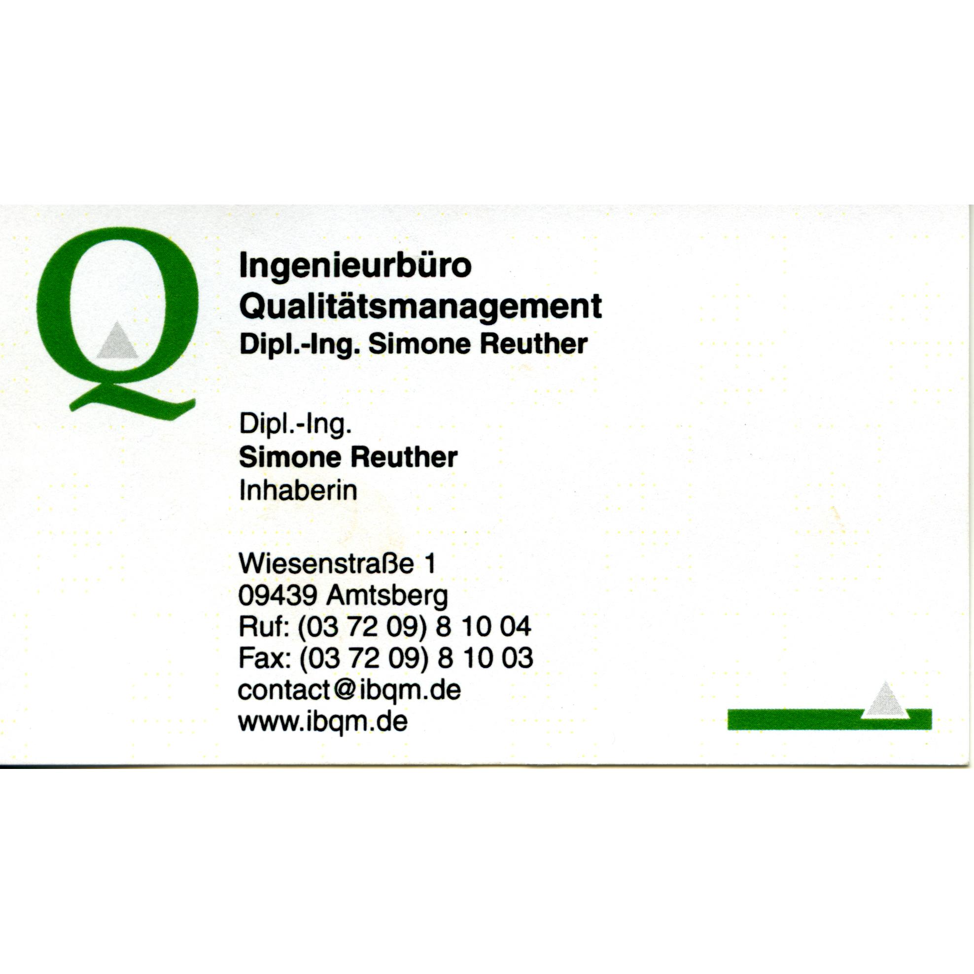 Ingenieurbüro Qualitätsmanagement Dipl.-Ing. Simone Reuther