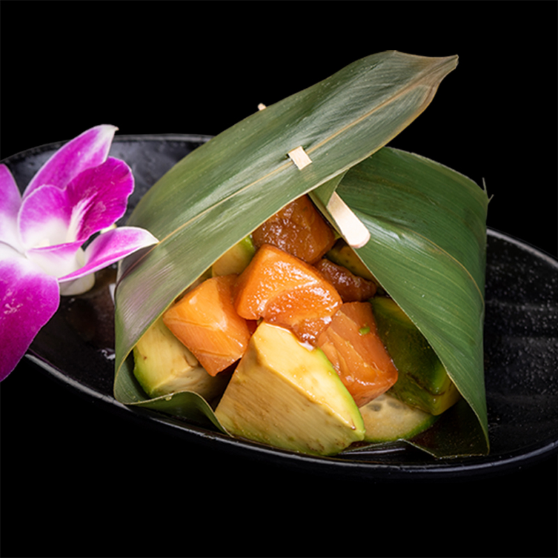 Click to expand image of Salmon Avocado* with wasabi soy sauce
