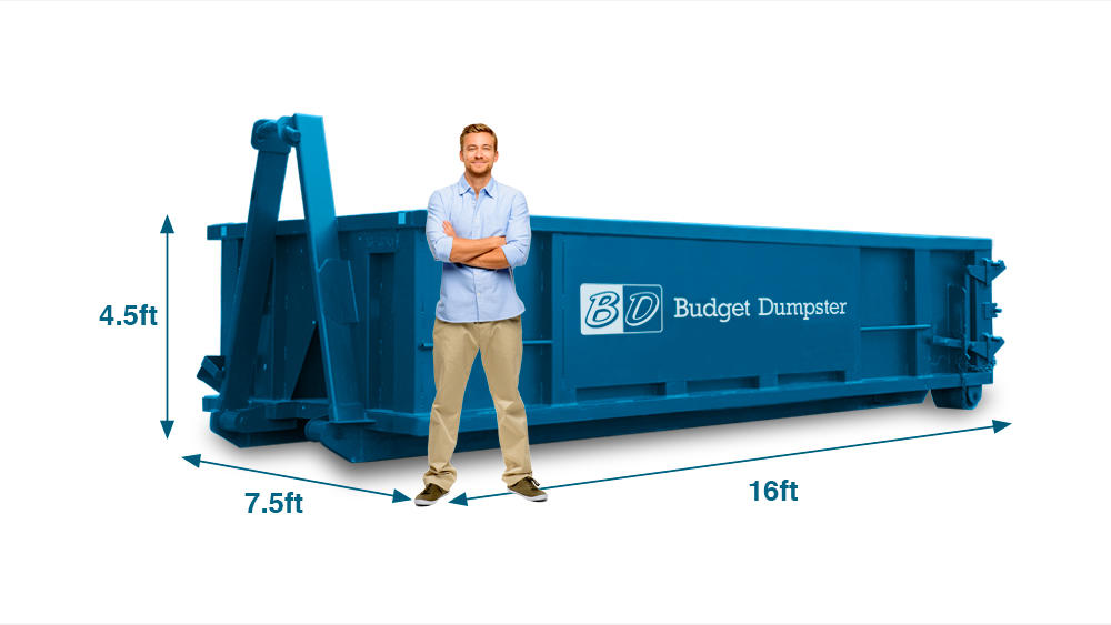 A 15 yard dumpster is slightly bigger than a 10-yard dumpster and is perfect for small to medium-sized jobs. This size dumpster is generally used for home remodeling and renovation projects.